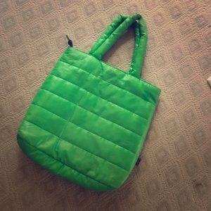 Green laptop padded bag